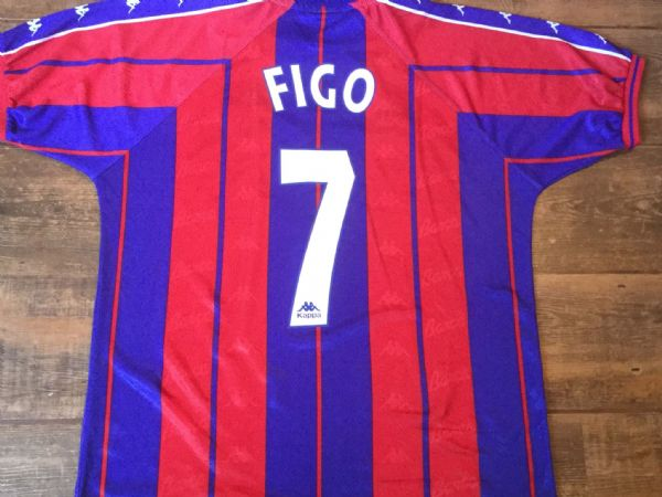 1997 1998 Barcelona Figo Home Football Shirt  Adults Large